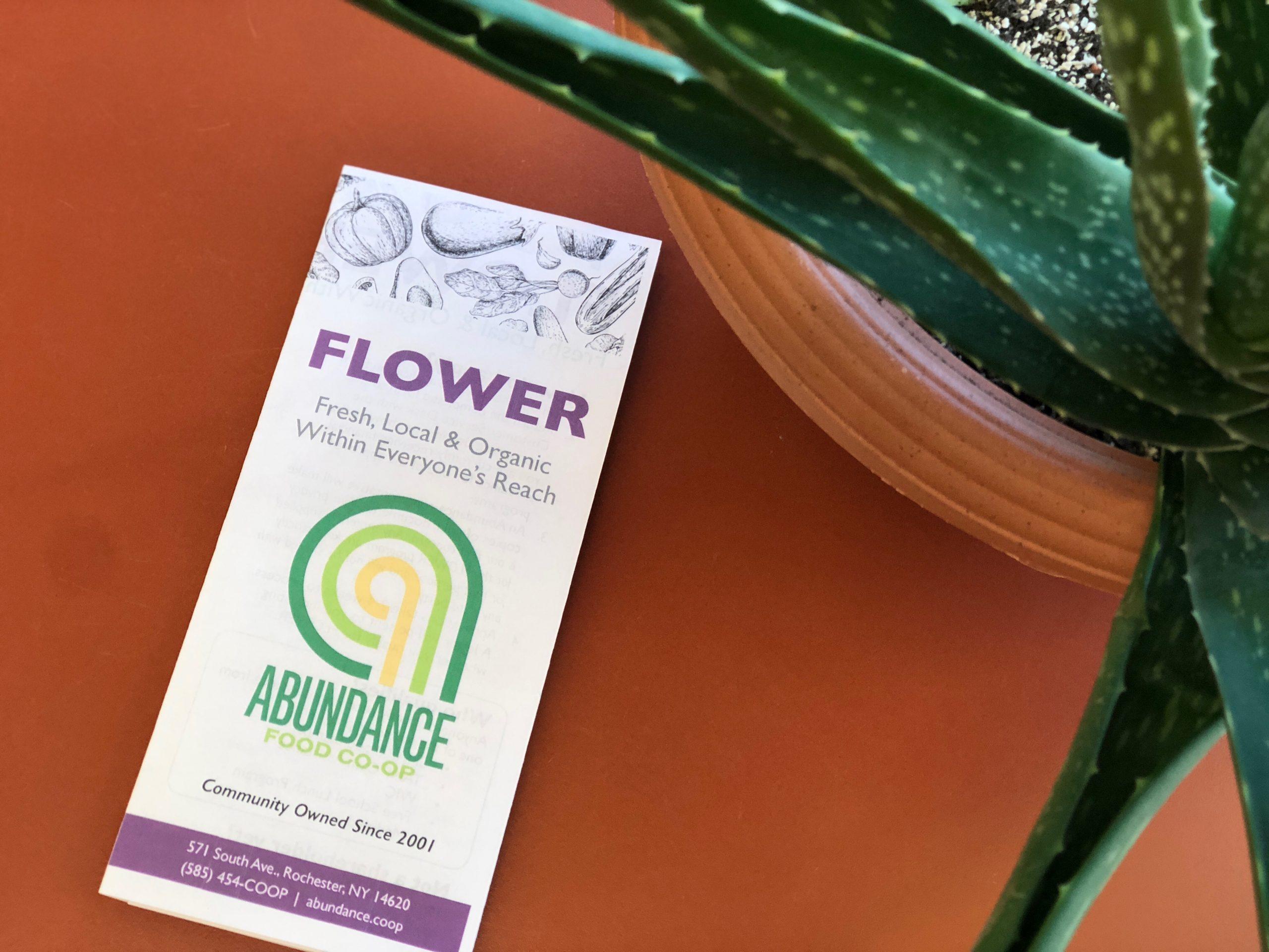 FLOWER pamphlet