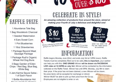 Abundance Fourth Raffle Rules