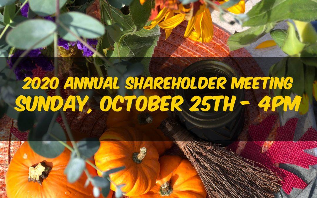 Annual Shareholders Meeting 2020